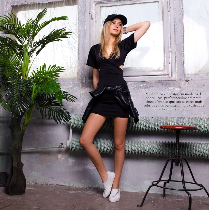 black-dress-ootd-outfit-missguided-adidas-cap-tumblr-girl-street-style-blonde-girl